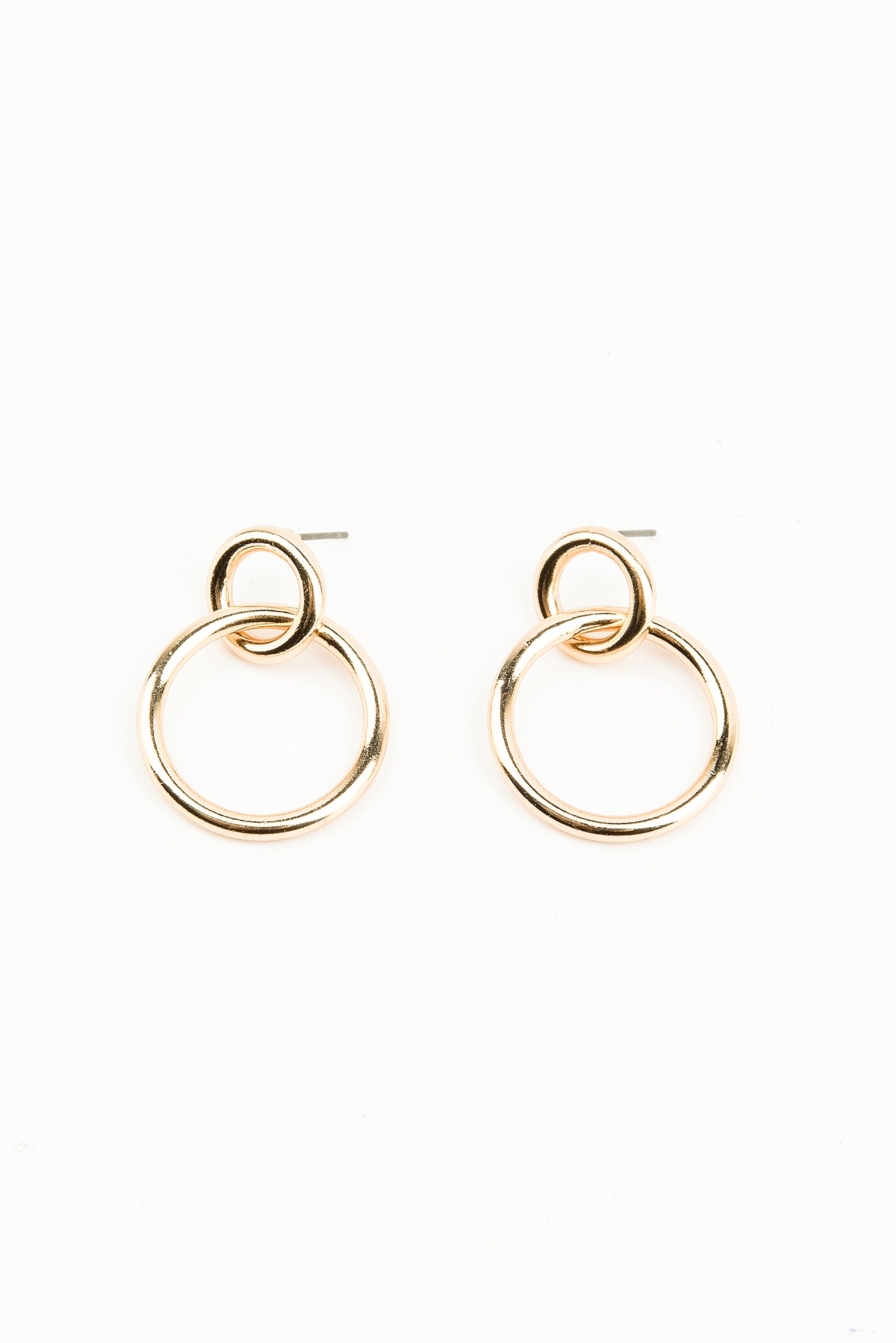 Small Double Ring Earrings NA-KD.COM