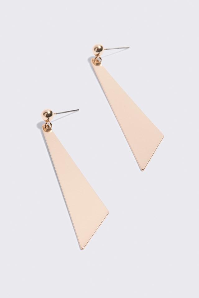Small Geometric Drop Earrings Gold