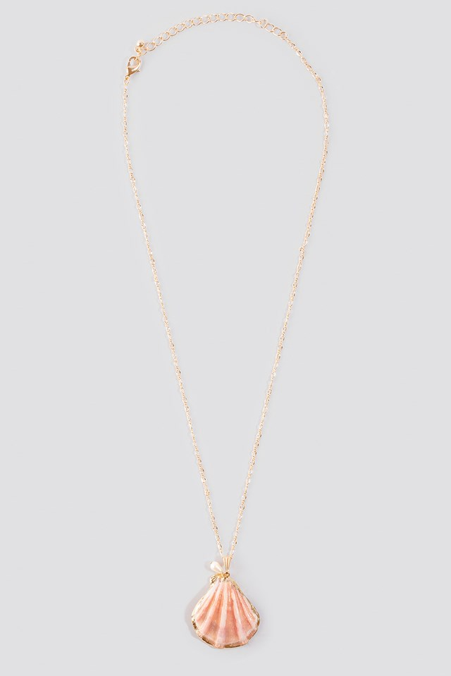 Small Real Shell Necklace Pink
