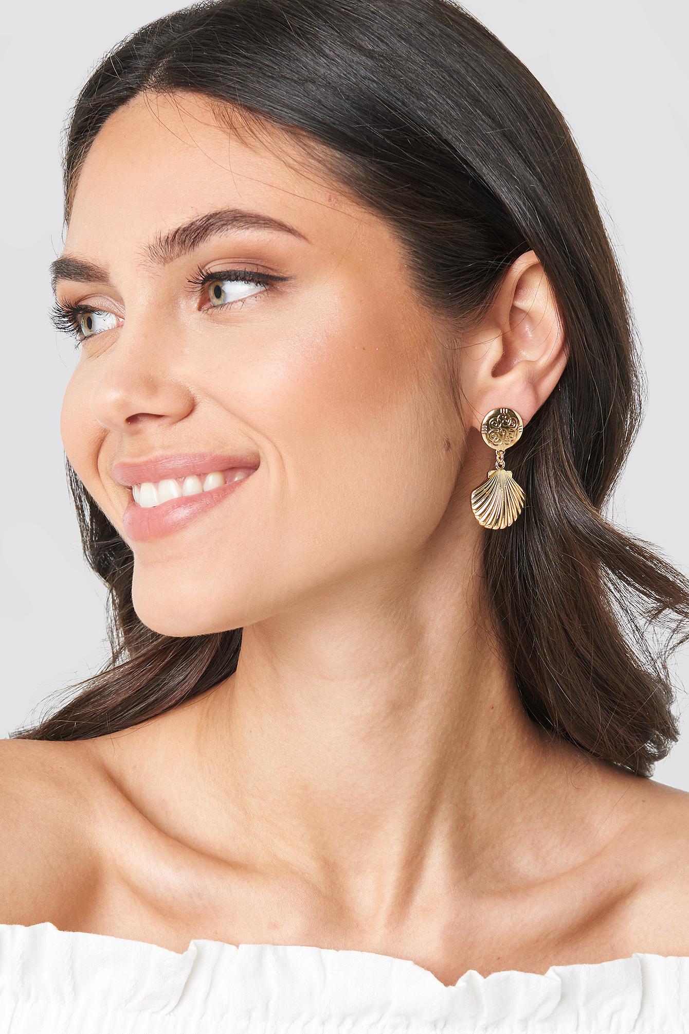 Small Shell Drop Earrings NA-KD.COM