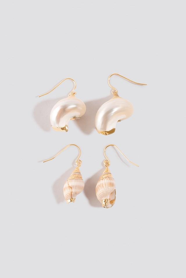 Small Shell Earrings (2-pack) Shell