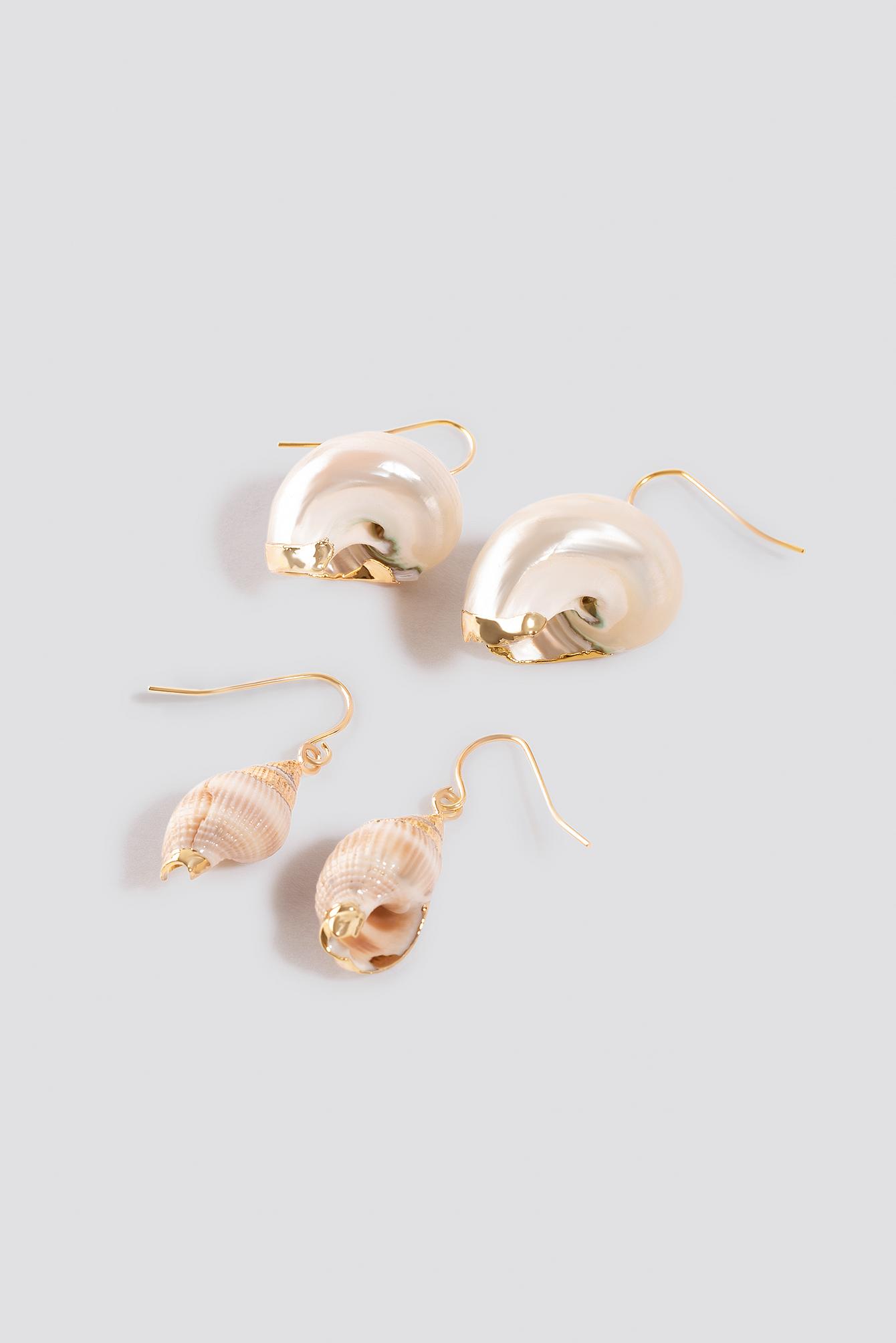 Small Shell Earrings (2-pack) NA-KD.COM