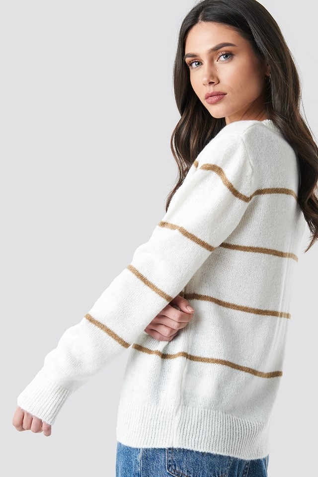 Small Stripes Knitted Sweater NA-KD.COM