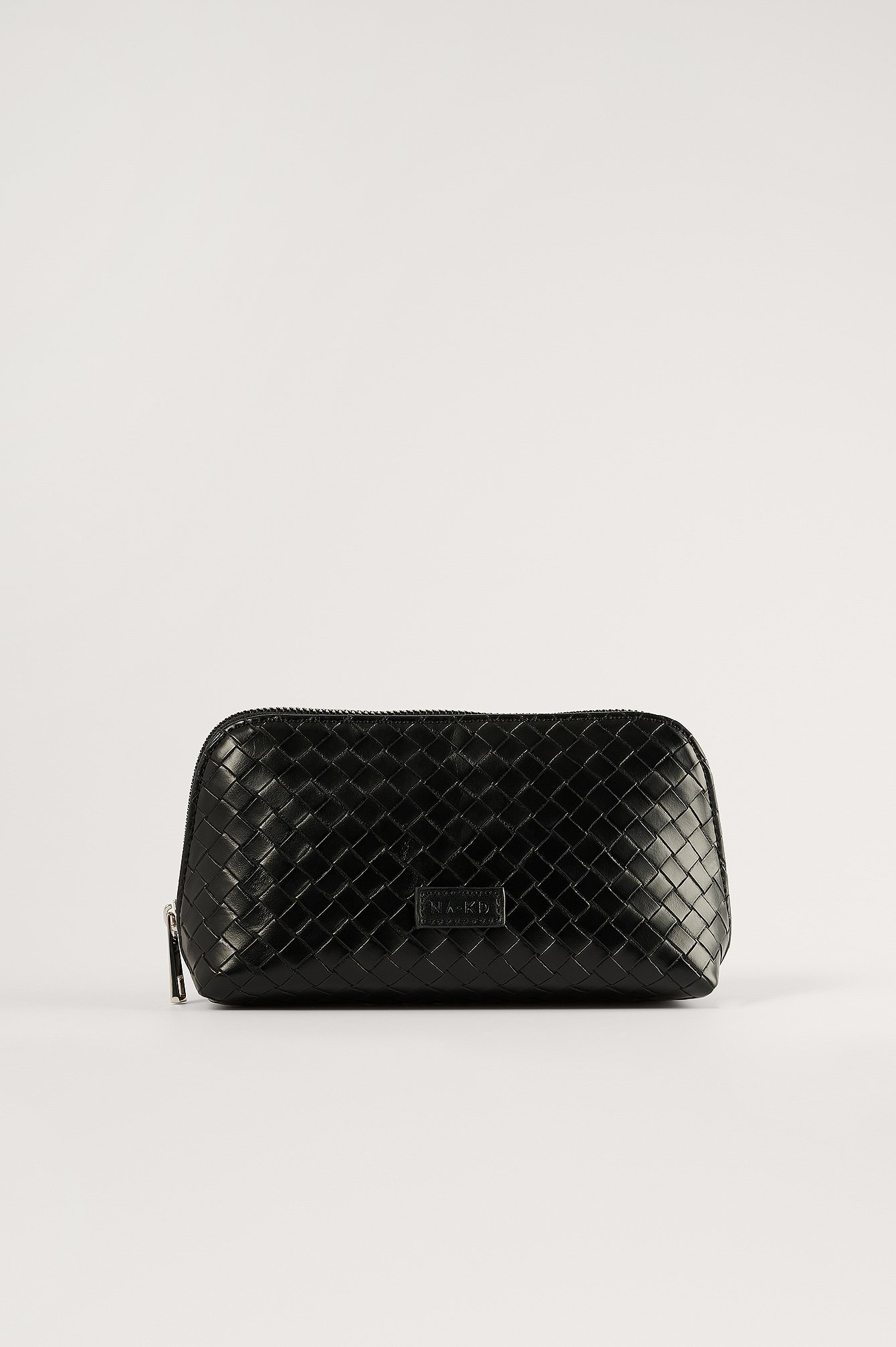 NA-KD Accessories Woven Look Make Up Bag - Black