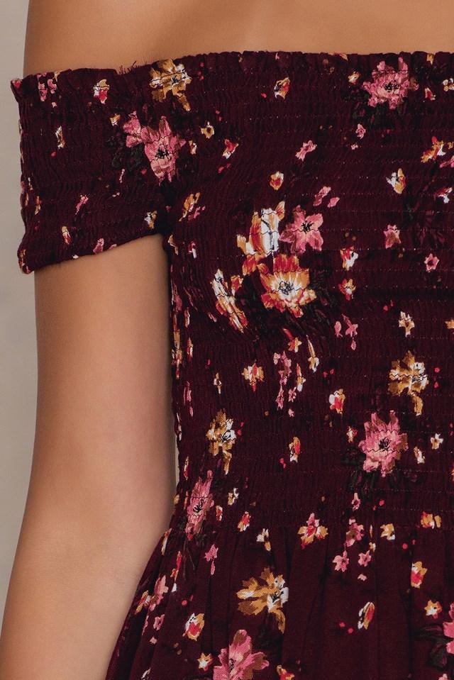 Smock Dress Flower Print