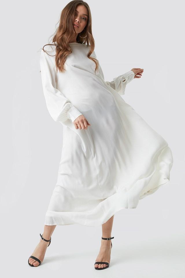 Smock Maxi Dress White