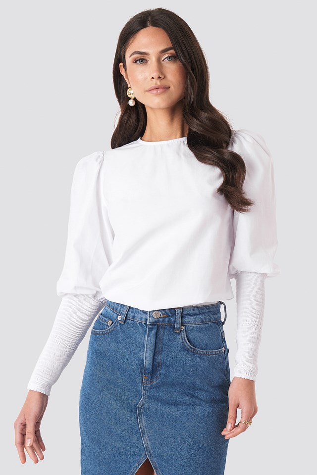 Smock Sleeve Detail Blouse NA-KD Trend