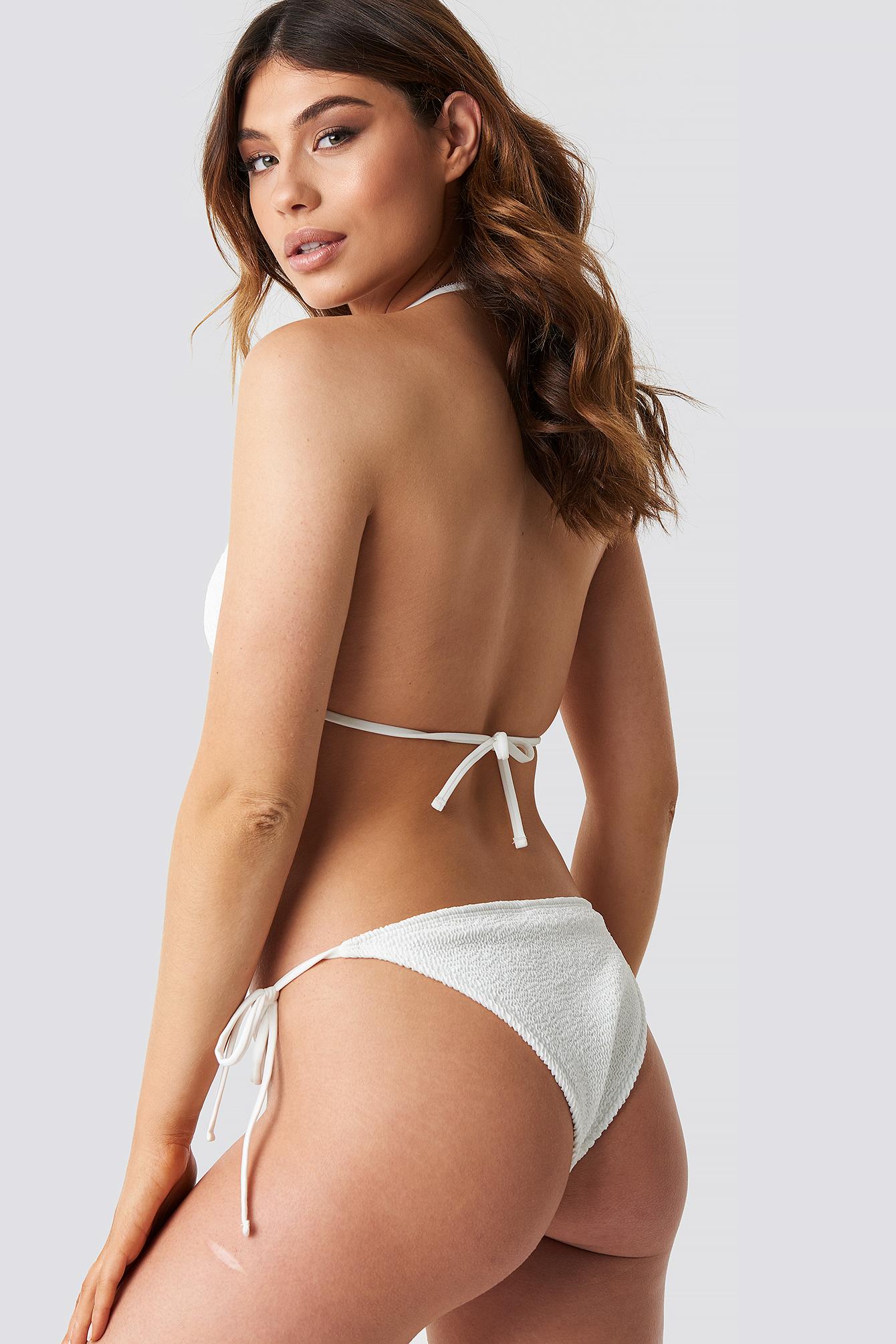 Smocked Triangle Bikini Top NA-KD.COM