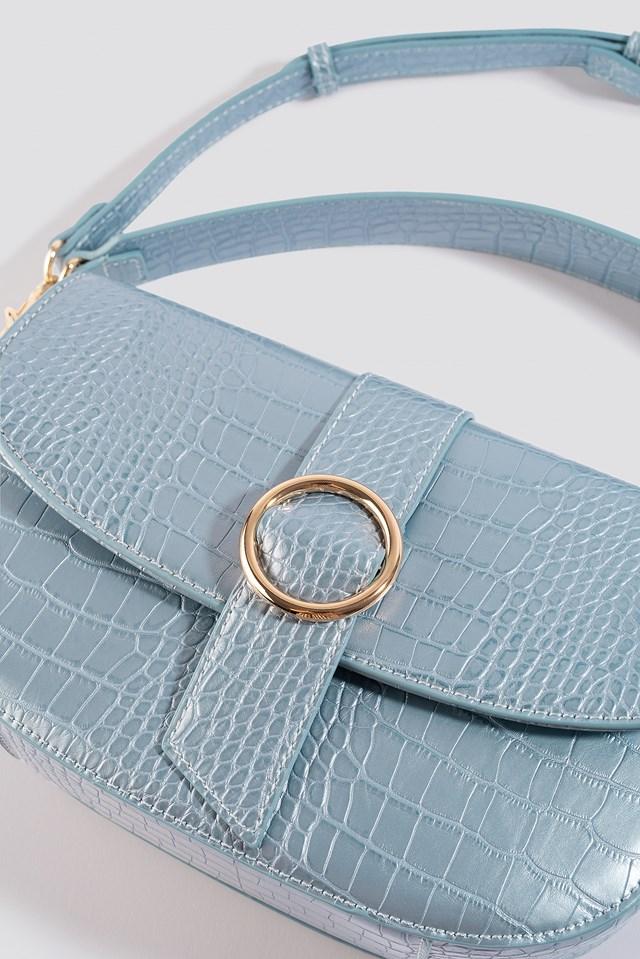 Snake Crossover Handbag Light Blue