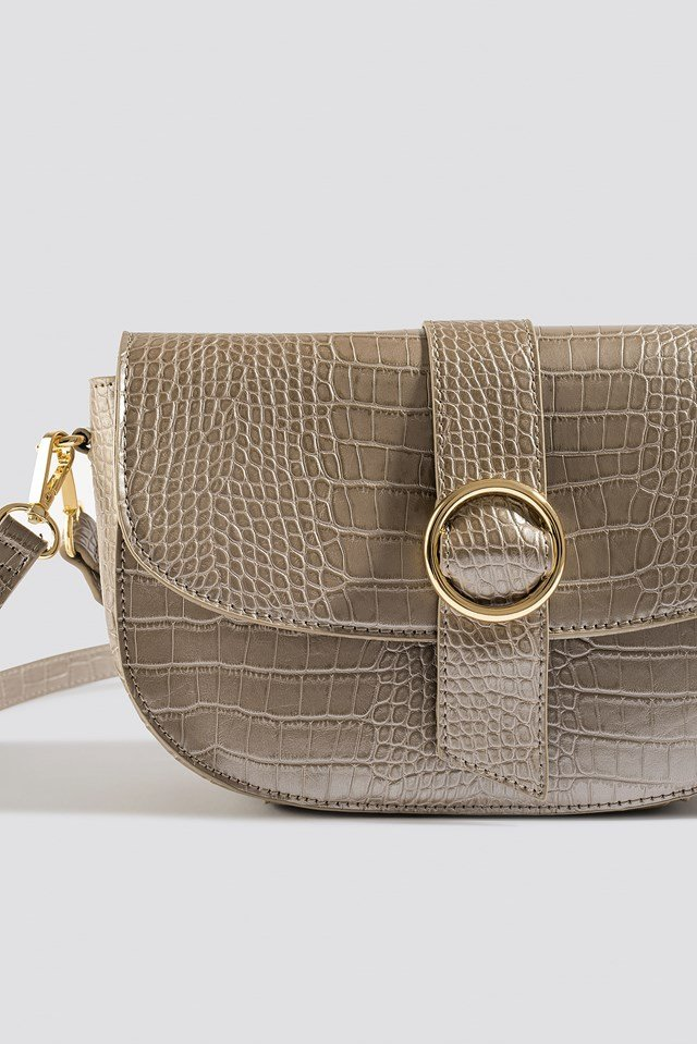 Snake Crossover Handbag Taupe