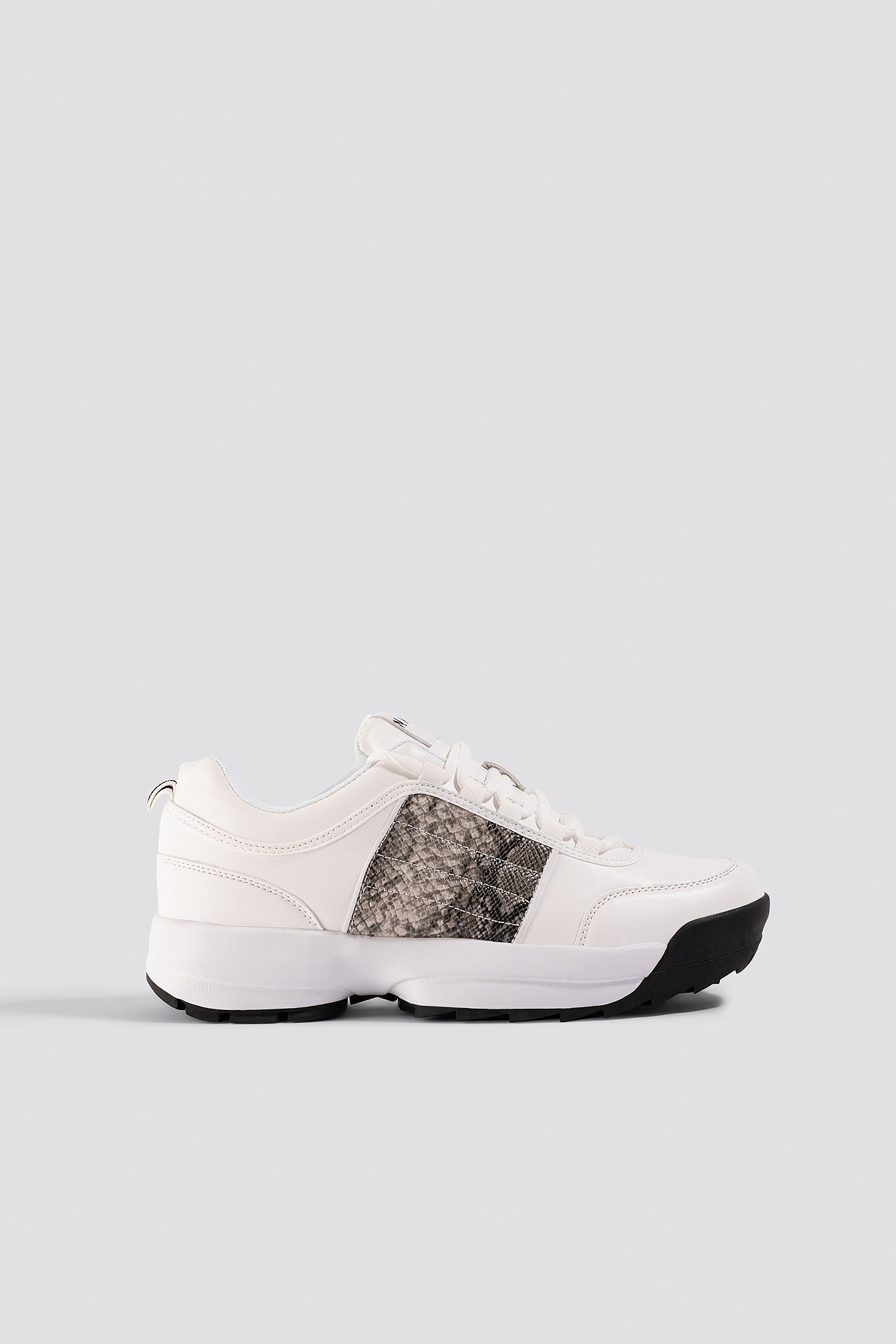 NA-KD Shoes Snake Detail Sneakers - White