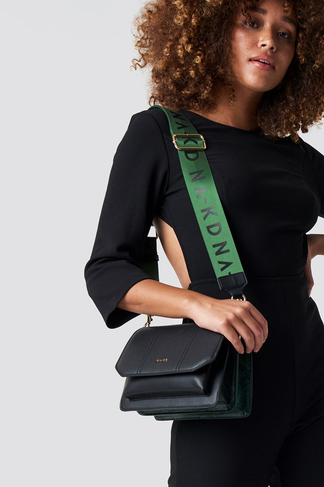 Snake Detailed Crossover Bag Black/Green