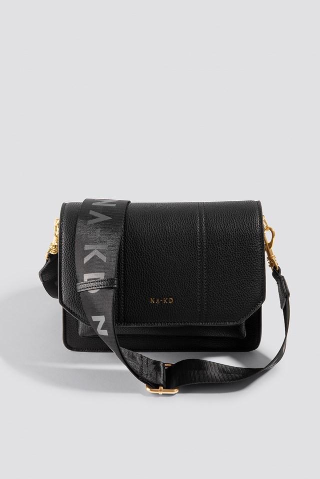Snake Detailed Crossover Bag Black/Beige