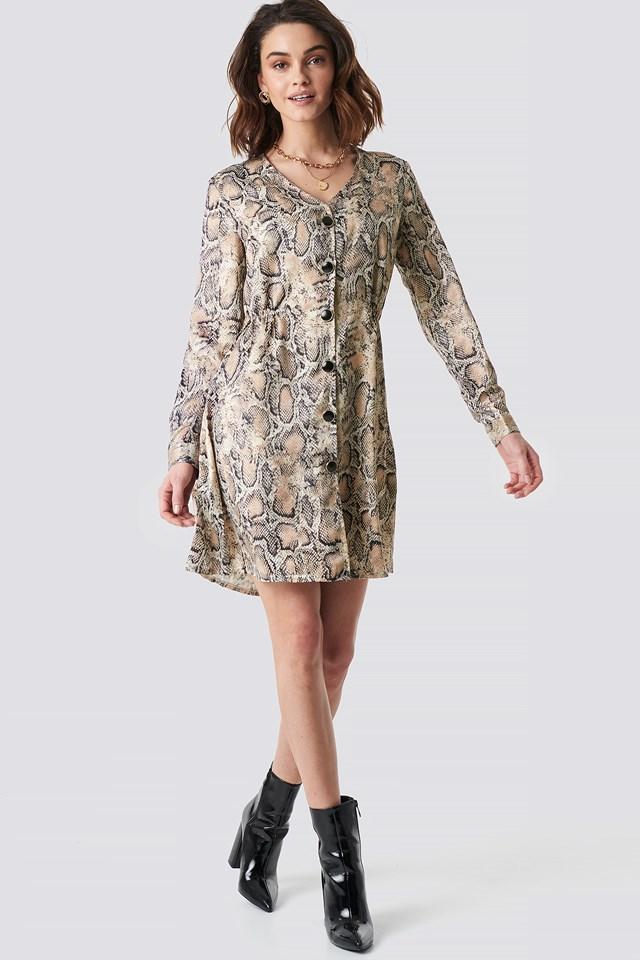 Snake Patterned Dress NA-KD.COM