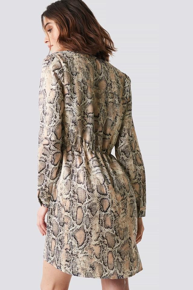 Snake Patterned Dress Mink