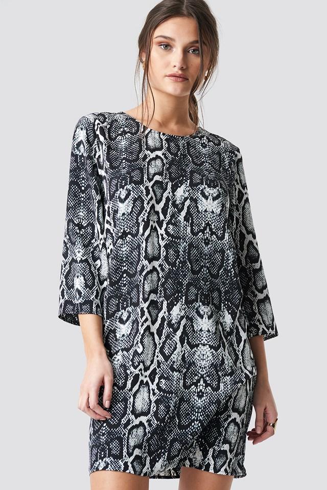 Snake Print Drop Waist Mini Dress NA-KD.COM