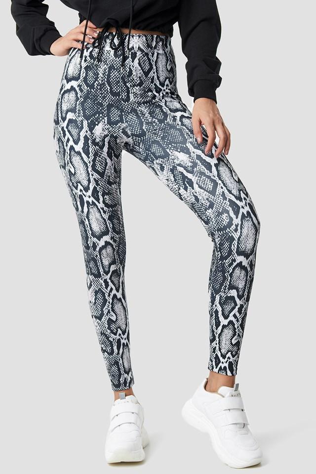 Snake Print Leggings NA-KD.COM