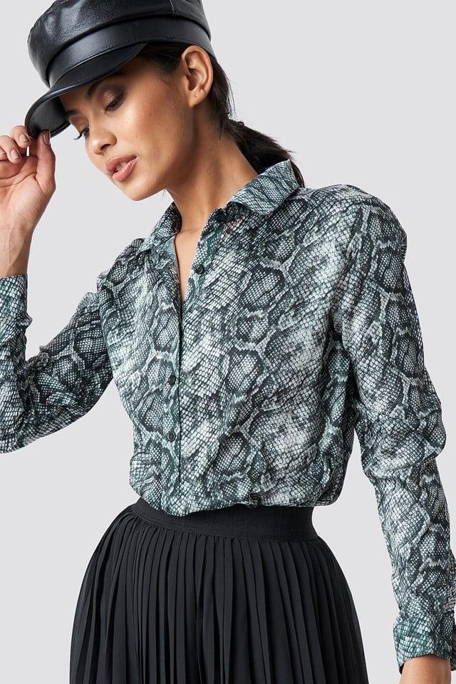 Snake Print Tunic Shirt NA-KD