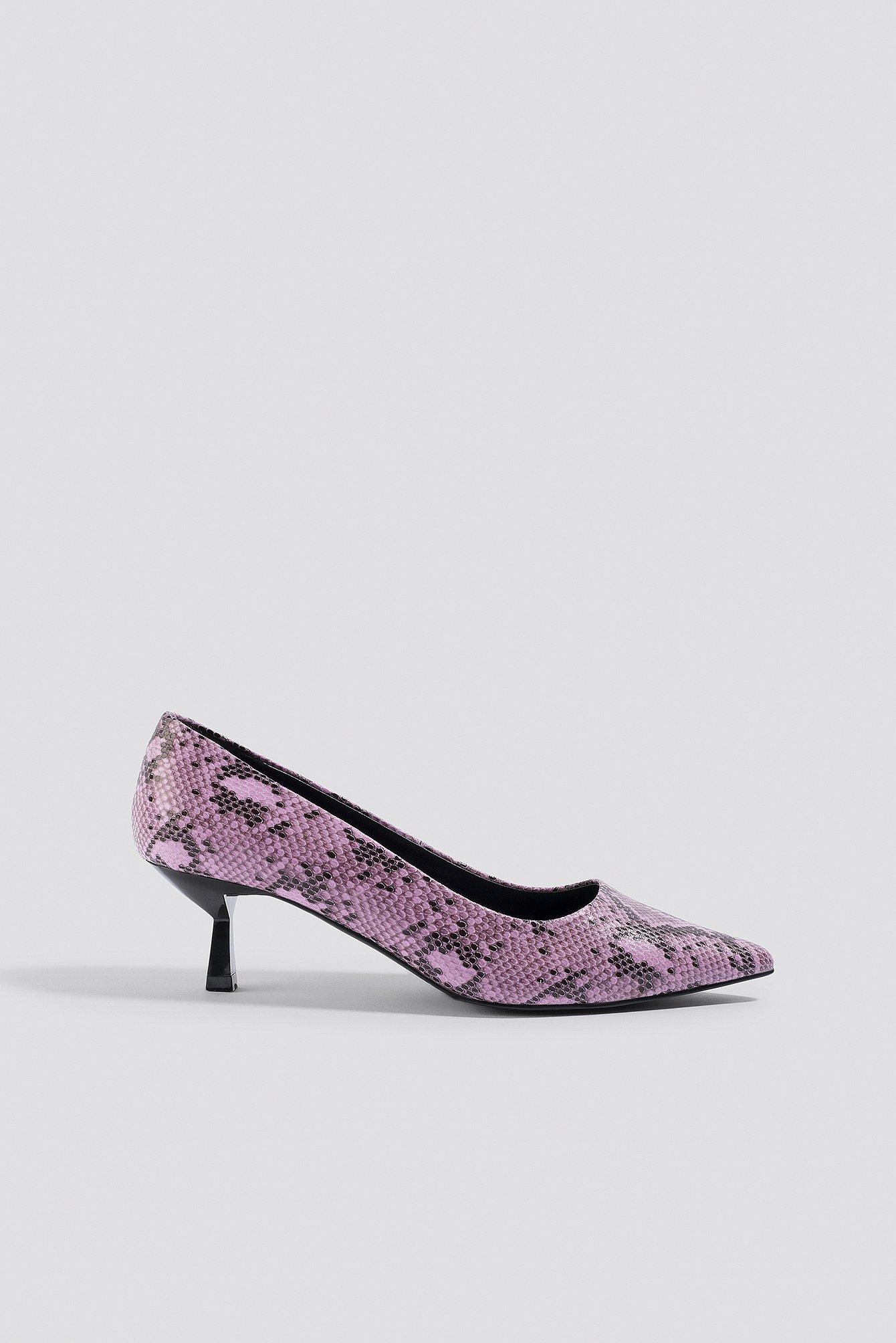 na-kd shoes -  Snake Printed Pumps - Pink