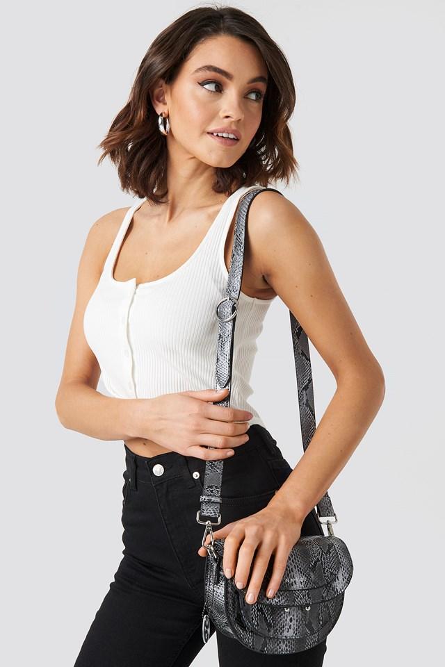 Snake Shoulder Bag White