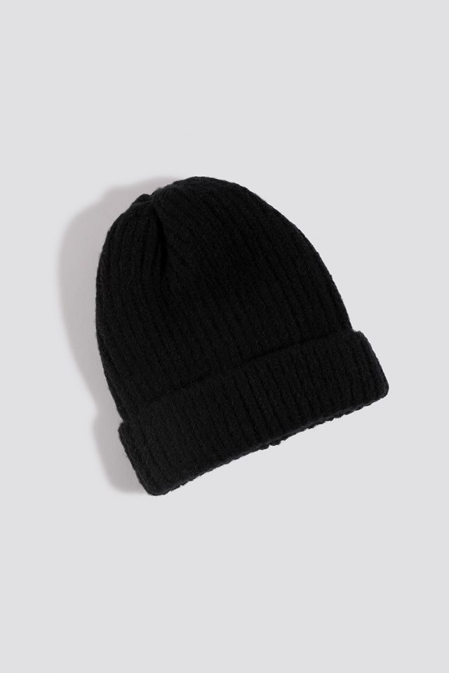 Soft Knitted Hat Black