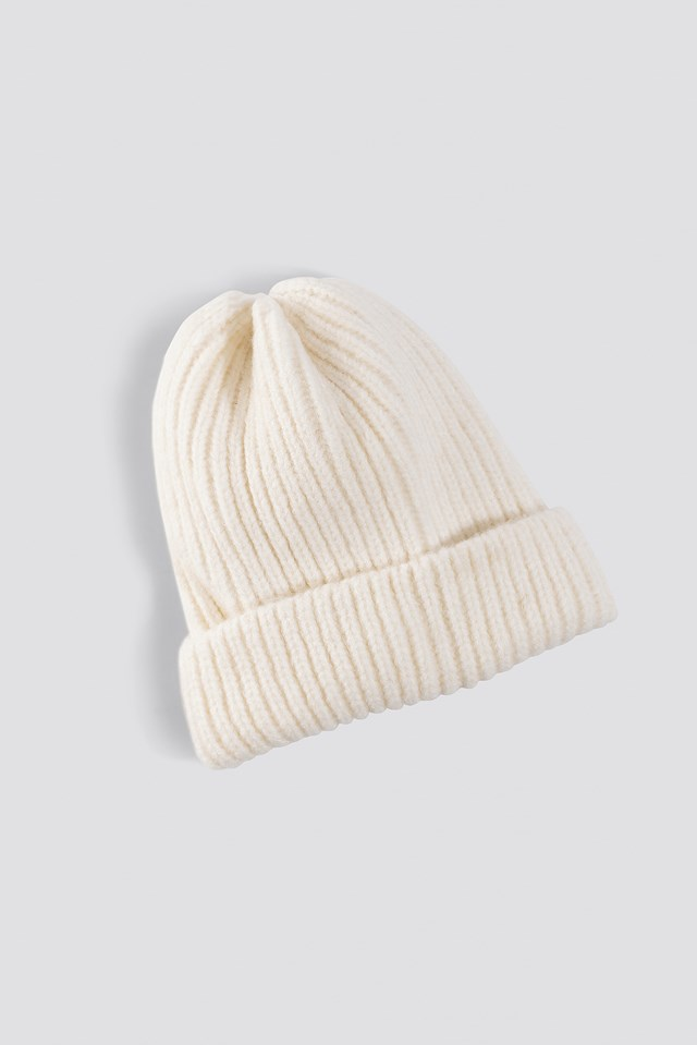 Soft Knitted Hat White