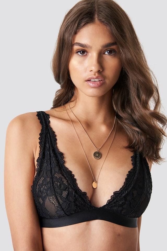 Soft Lace Bra Black