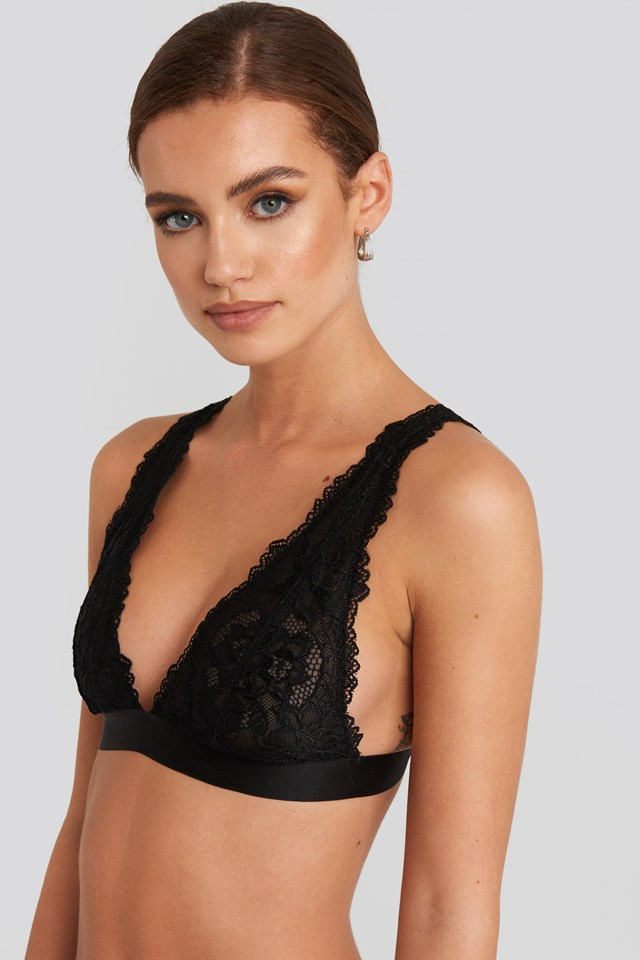 Soft Lace Bra Black