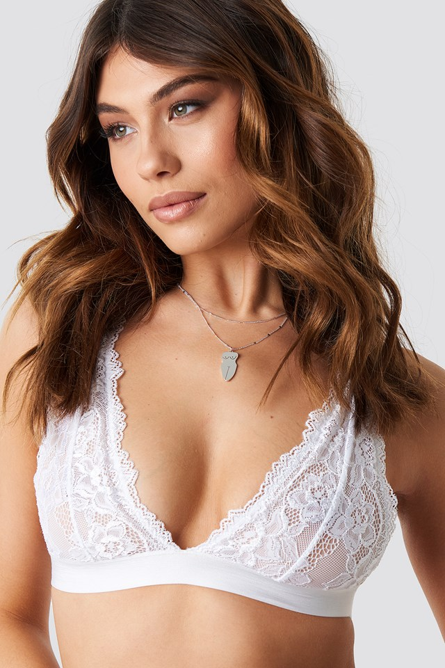 Soft Lace Bra White