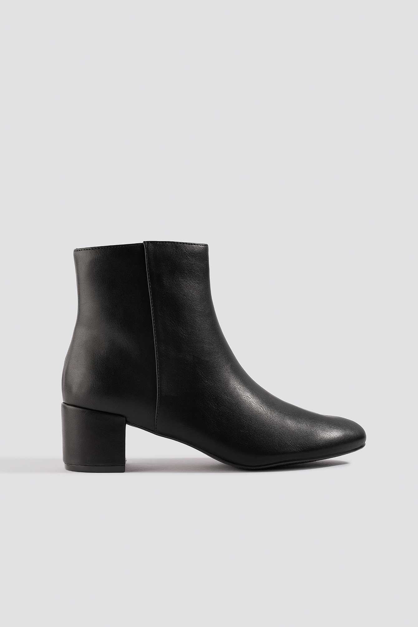 na-kd shoes -  Soft Low Heel Booties - Black