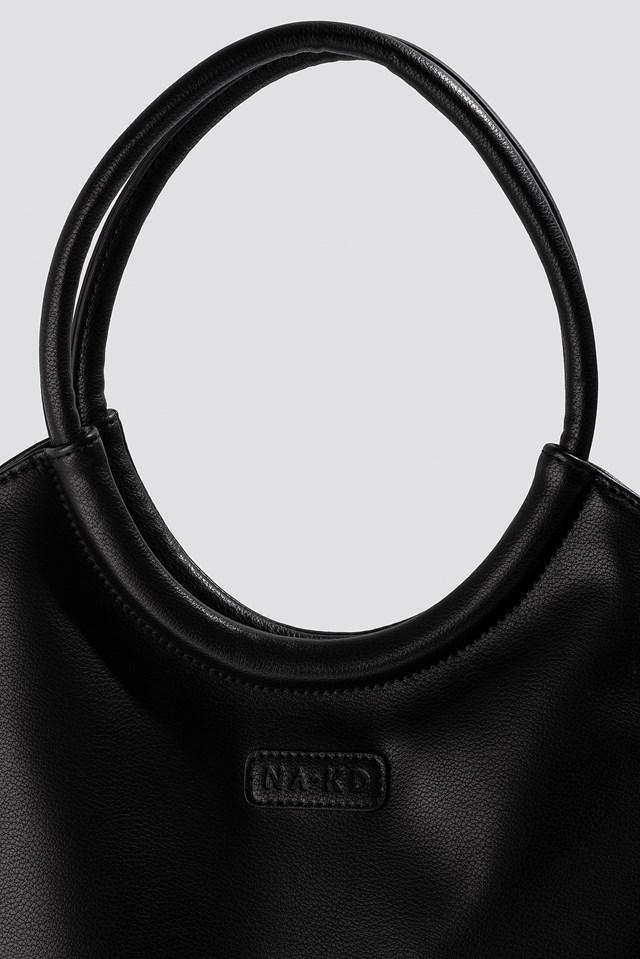 Soft Rounded Shopper Black
