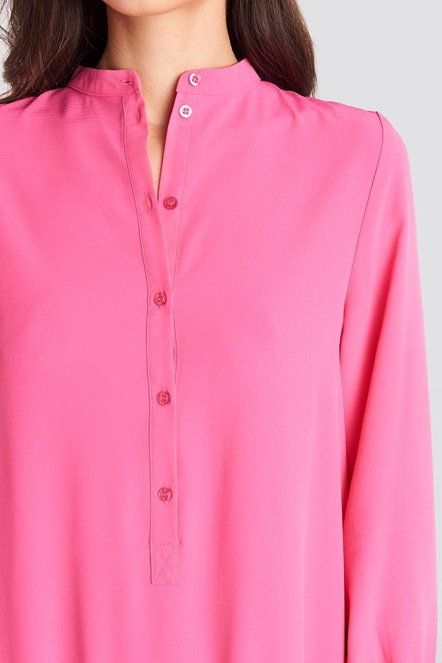 Solid Mini Dress Pink