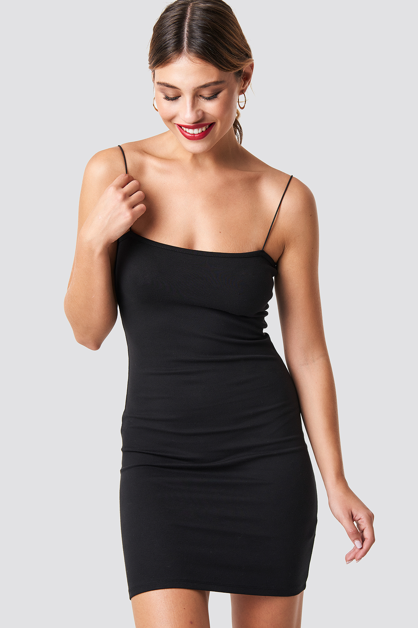 na-kd party -  Spaghetti Strap Dress - Black
