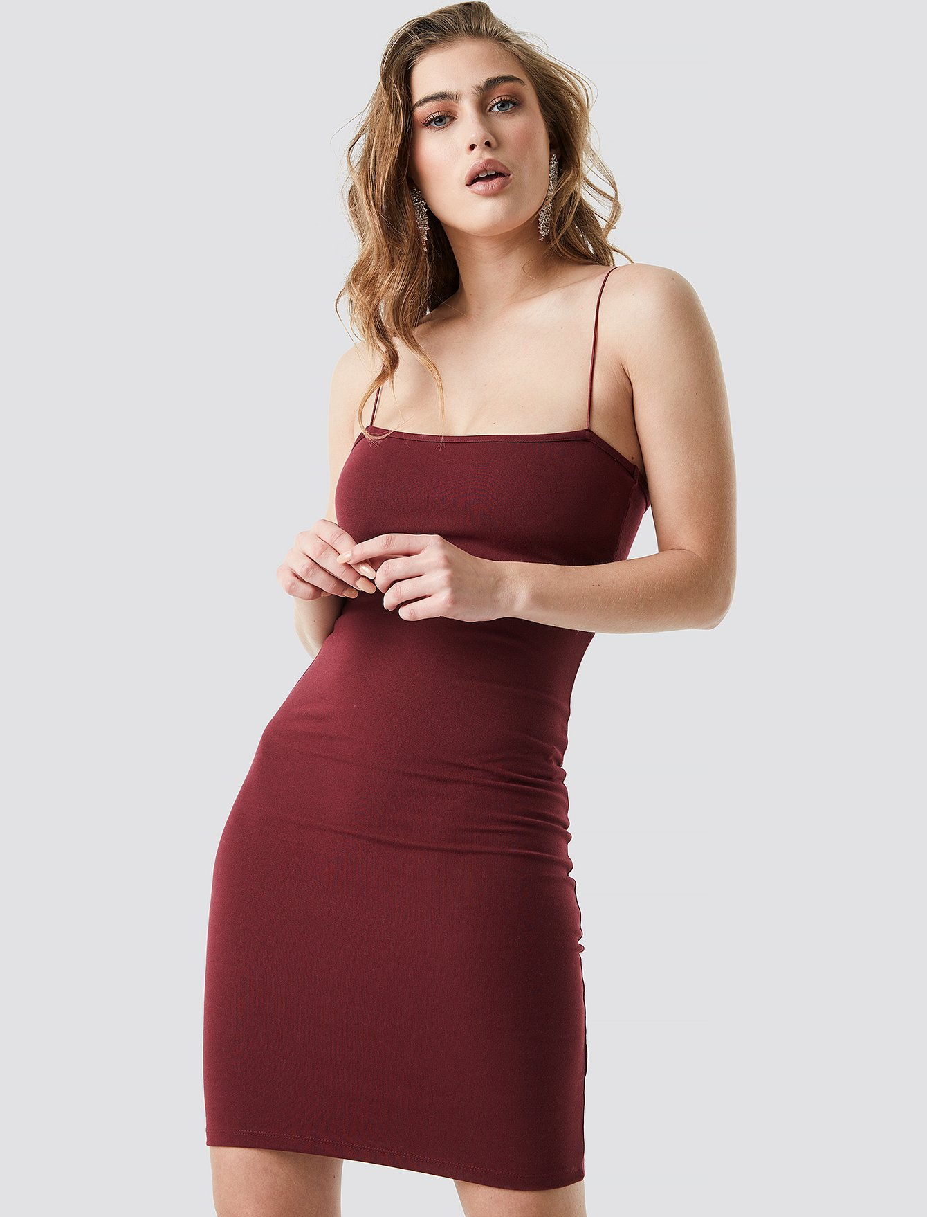 na-kd party -  Spaghetti Strap Dress - Red