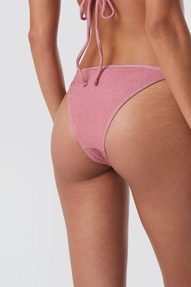 Sparkle Triangle Bikini Panty Pink