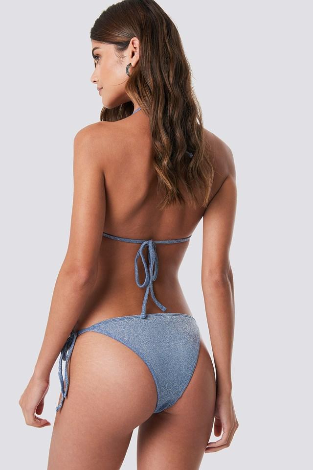 Sparkle Triangle Bikini Panty Dusty Blue