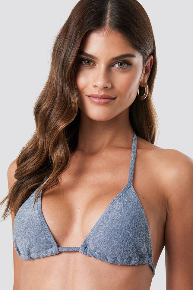 Góra bikini Sparkle Triangle Dusty Blue