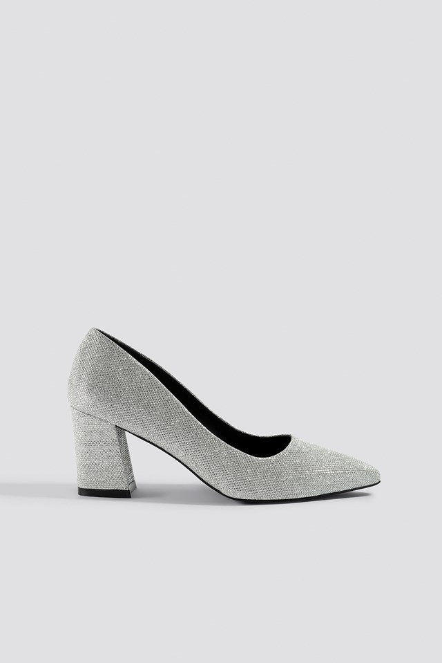 Sparkling Block Heel Pumps NA-KD Shoes