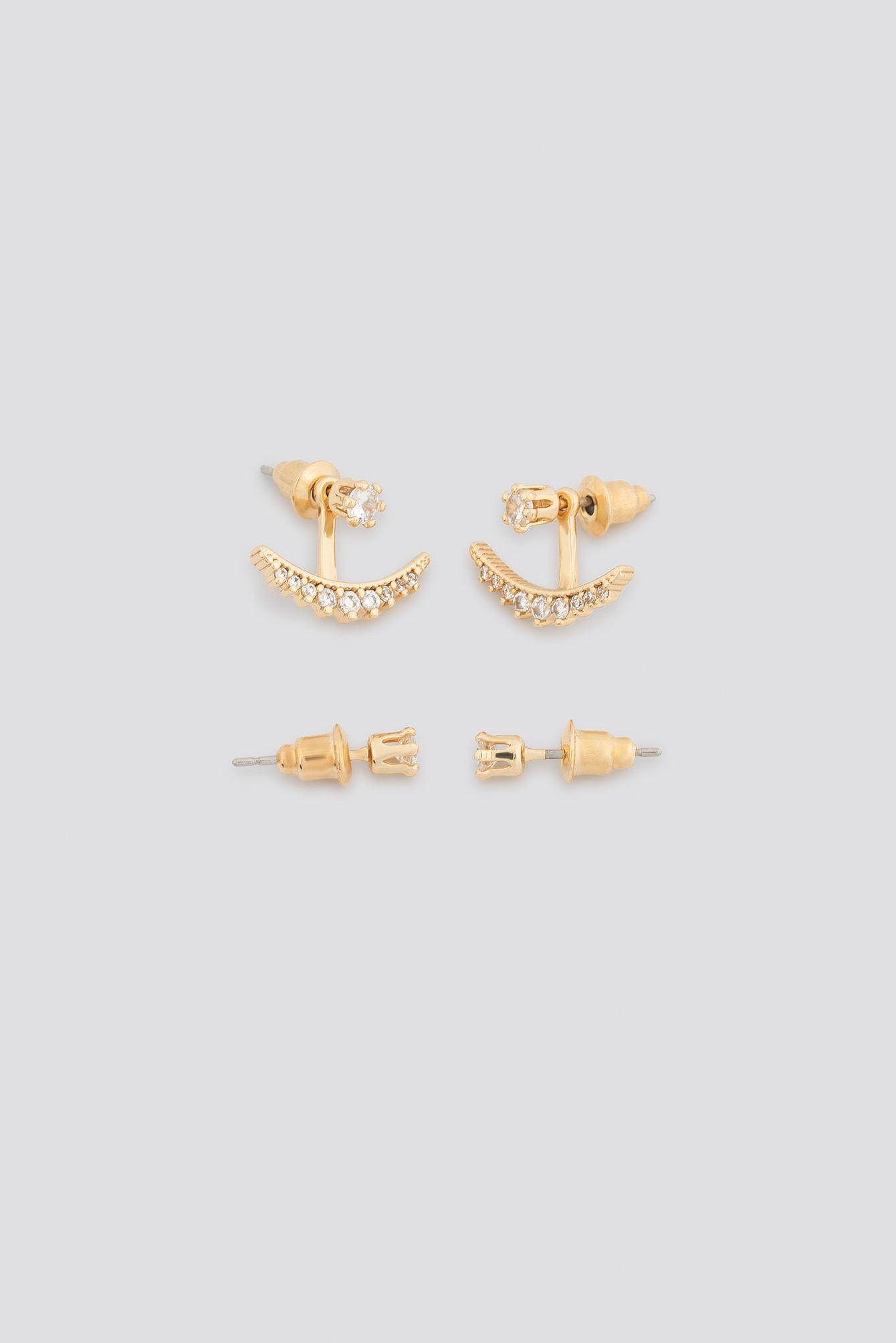 Sparkling Halfmoon Earring Set NA-KD.COM