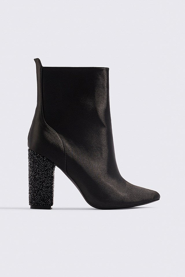 Sparkling Heel Ankle Boots NA-KD Shoes
