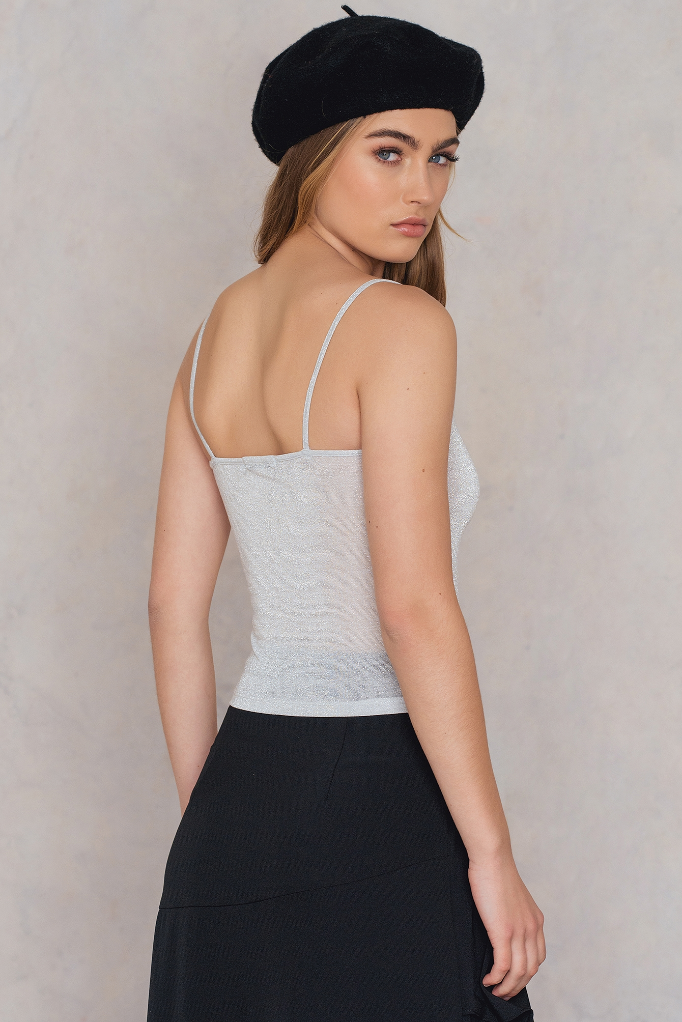 Light Silver Sparkling Singlet