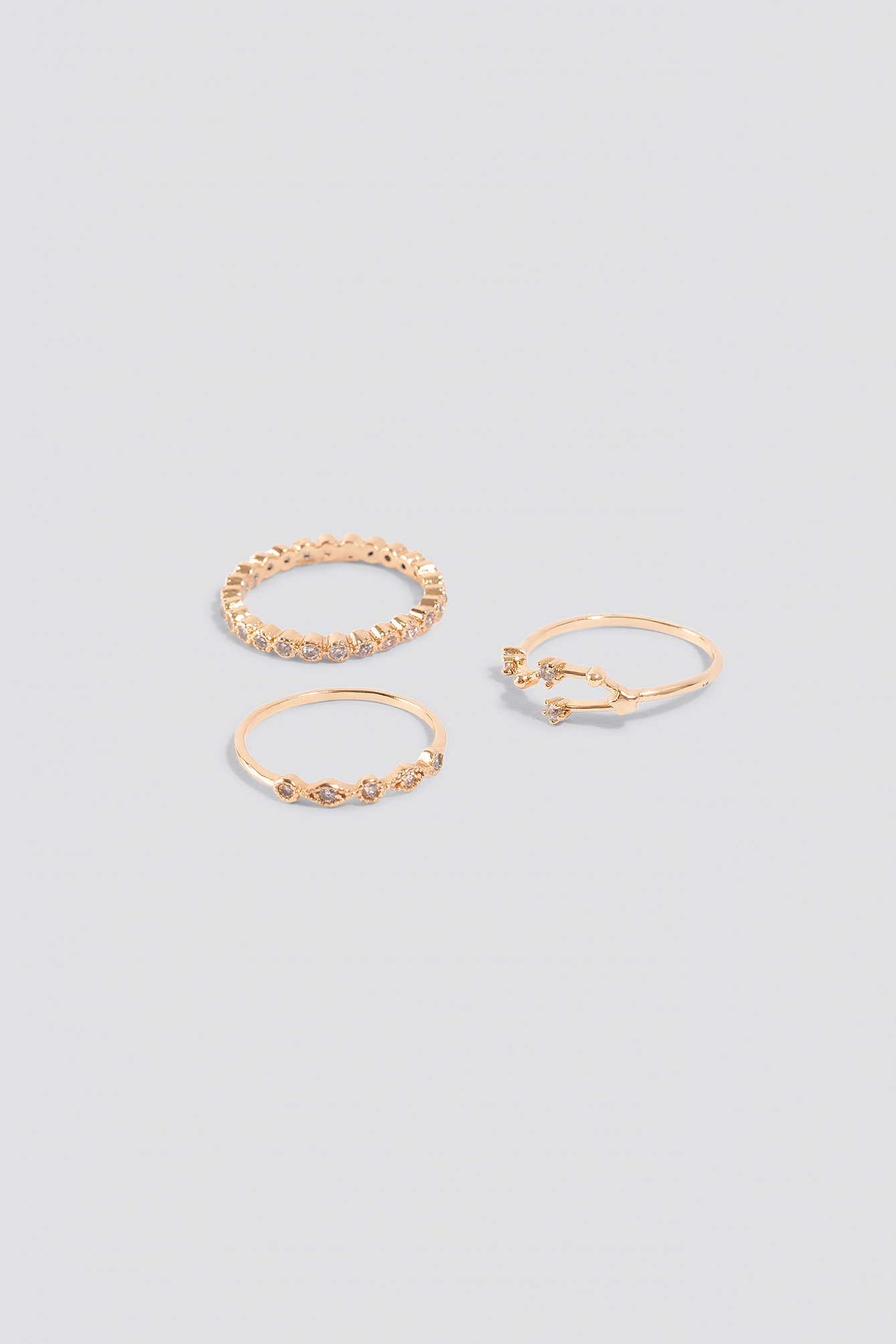 Sparkling Stacking Rings (3-pack) NA-KD.COM