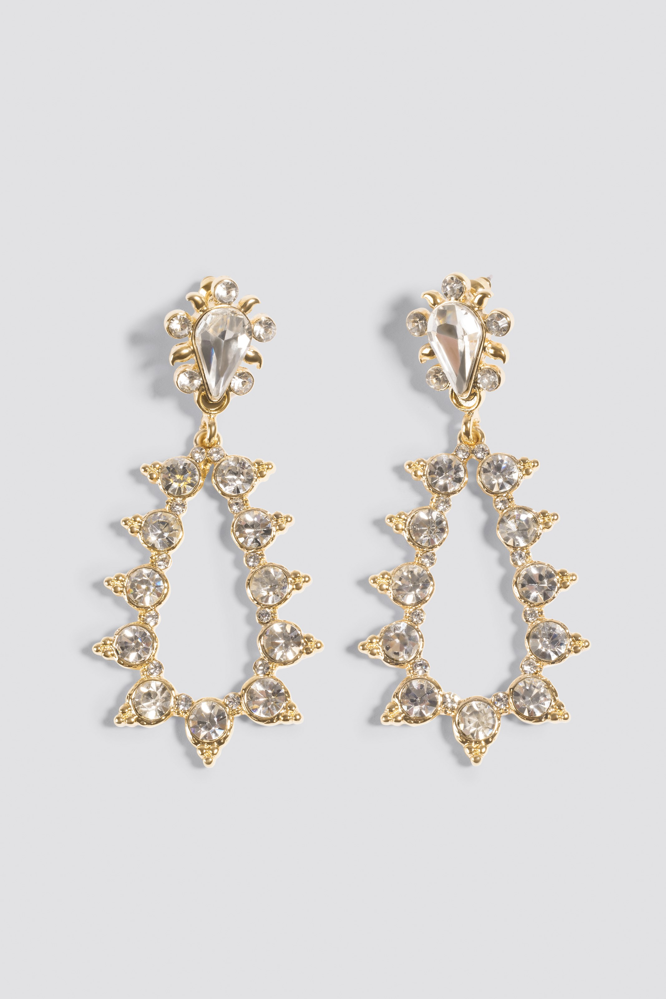 Sparkling Studded Drop Earrings  NA-KD.COM
