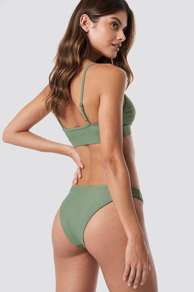 Sporty Bikini Bralette Pale Khaki