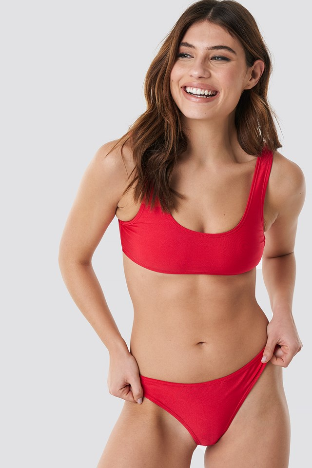 Sporty Bikini Briefs Red