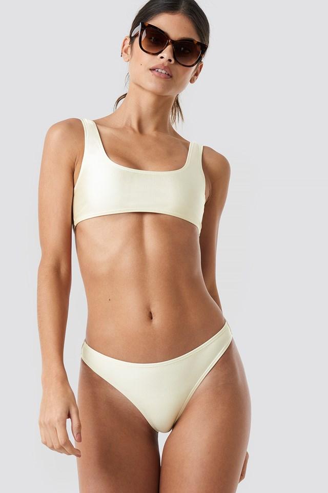Sporty Bikini Briefs Cream