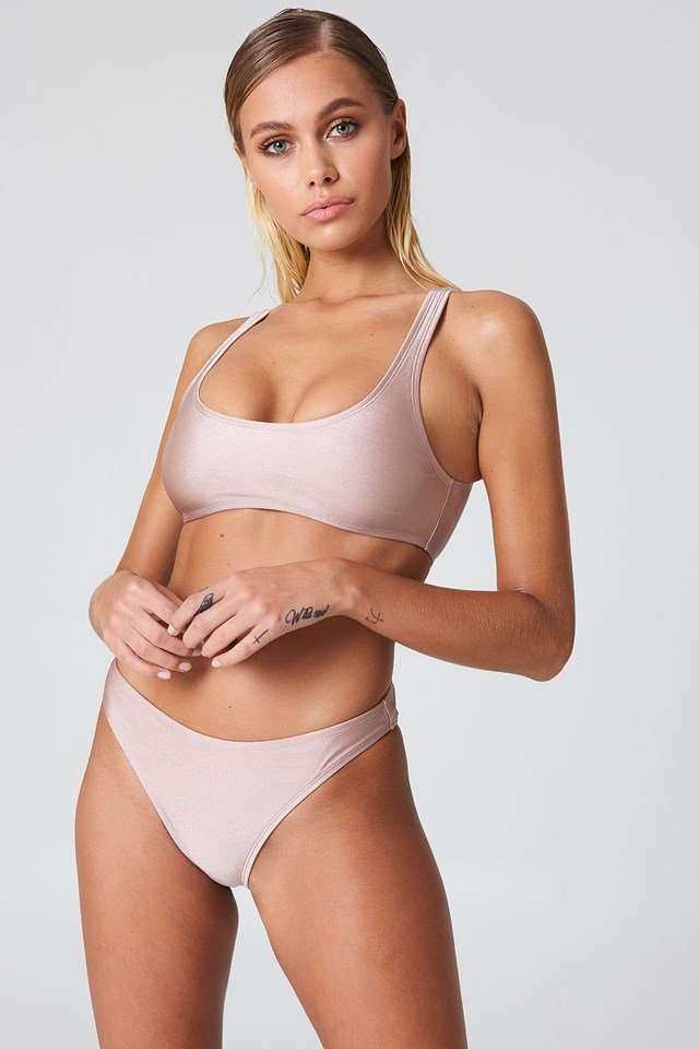 Sporty Bikini Briefs Dusty Pink