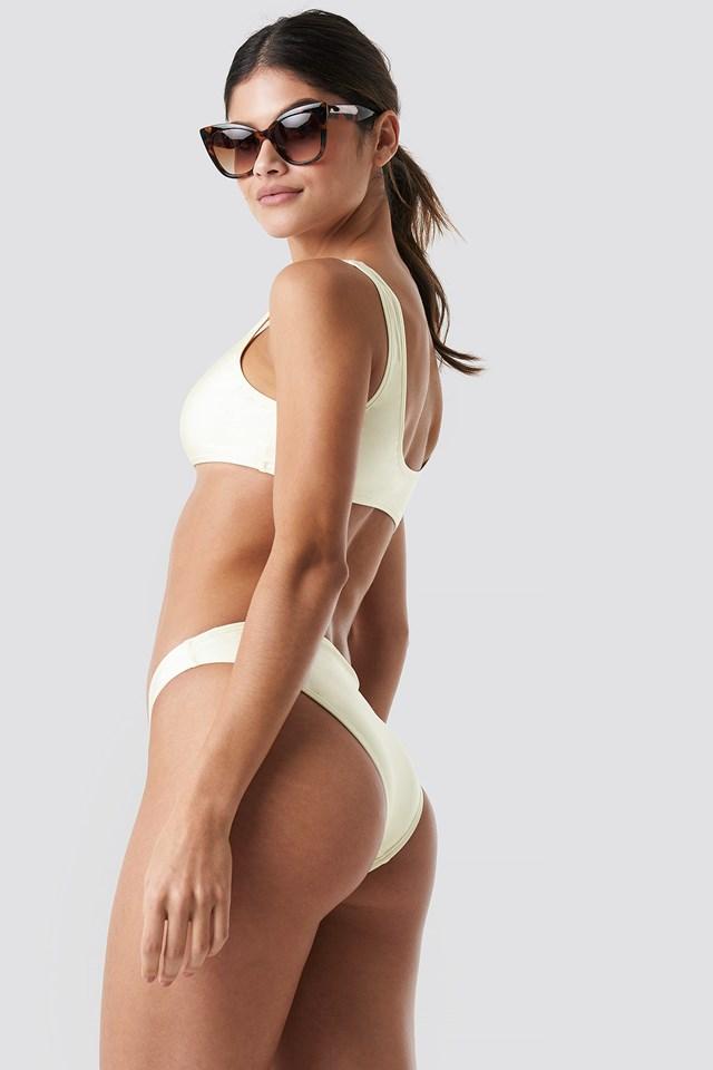 Sporty Bikini Top Cream