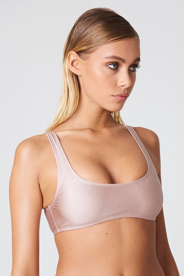 Sporty Bikini Top Dusty Pink