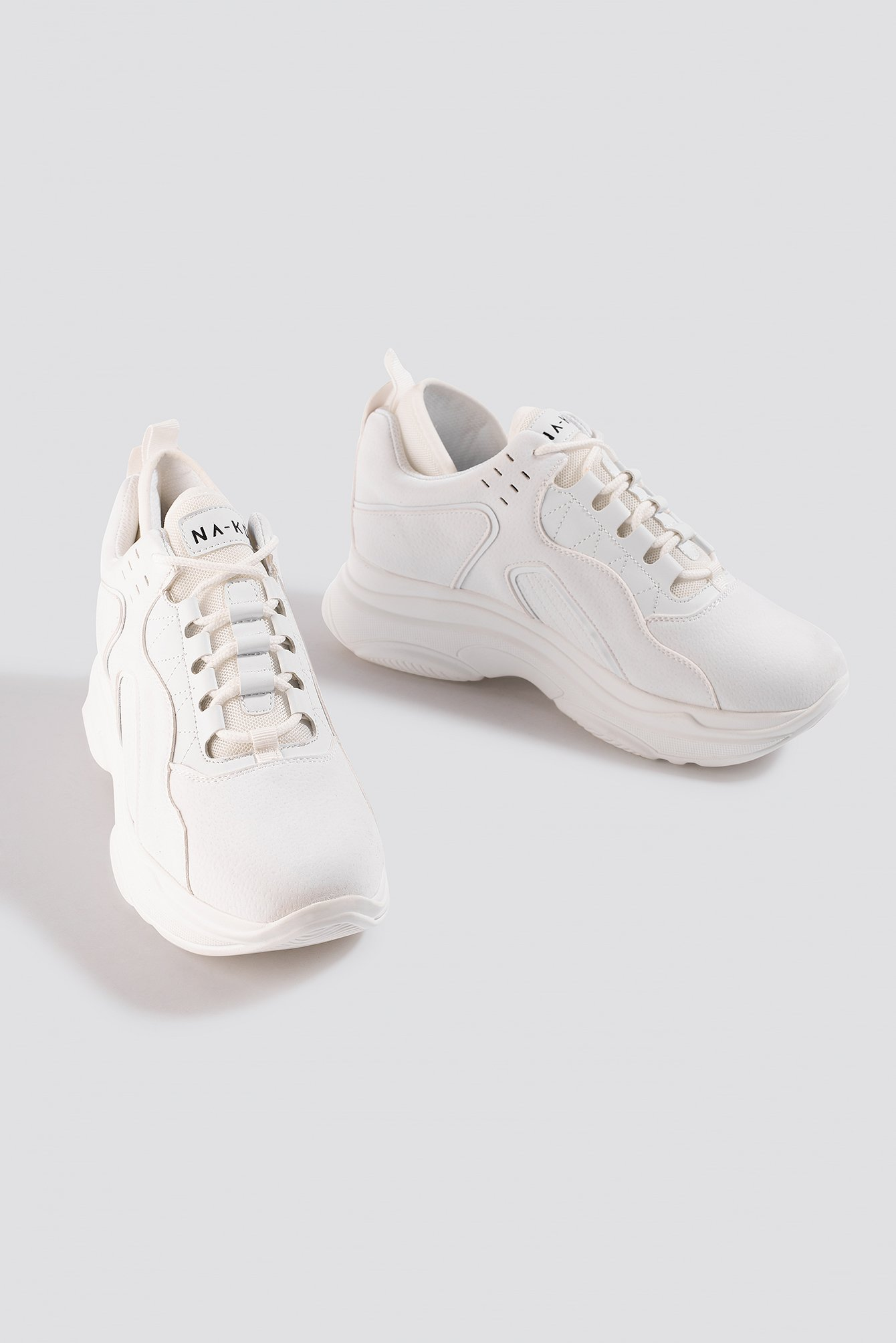 NA-KD Shoes Sporty Faux Suede Sneakers - White